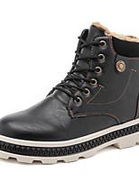 Недорогие -Муж. Армейские ботинки Кожа Зима На каждый день / Английский Ботинки Сохраняет тепло Ботинки Черный / Серый / Коричневый