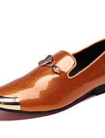 Недорогие -Муж. Официальная обувь Наппа Leather Весна Английский Мокасины и Свитер Водостойкий Черный / Коричневый / Темно-красный / Для вечеринки / ужина