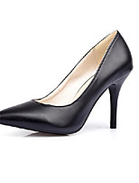 abordables -Femme Escarpins Polyuréthane Automne Chaussures à Talons Talon Aiguille Blanc / Noir / Rose