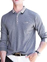 baratos -pólo de algodão de trabalho dos homens - colar de camisa de bloco de cor