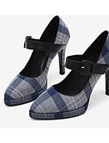Недорогие -Жен. Балетки Синтетика Весна Обувь на каблуках На шпильке Серый / Синий