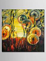 billiga -Hang målad oljemålning HANDMÅLAD - Abstrakt Moderna Inkludera innerram / Sträckt kanfas