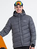 abordables -LanLaKa Homme Veste de Ski Pare-vent, Etanche, Garder au chaud Ski / Snowboard / Sports d'hiver Polyester Veste d'Hiver Tenue de Ski