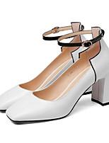 Недорогие -Жен. Комфортная обувь Овчина Весна Обувь на каблуках На толстом каблуке Белый