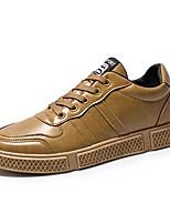 Недорогие -Муж. Комфортная обувь Полиуретан Осень Классика / Английский Кеды Водостойкий Черный / Темно-русый / Темно-коричневый