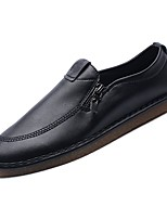 Недорогие -Муж. Комфортная обувь Полиуретан Осень Туфли на шнуровке Белый / Черный / Для вечеринки / ужина