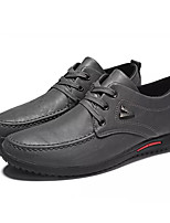 Недорогие -Муж. Комфортная обувь Полиуретан Осень На каждый день Кеды Дышащий Черный / Серый / Винный