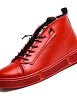 abordables -Homme Chaussures de confort Polyuréthane Automne Décontracté Basket Ne glisse pas Blanc / Noir / Rouge