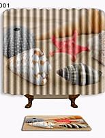 billiga -1set Traditionell Duschmattor 100g / m2 Polyester Stretch Nyhet Rektangulär Badrum Häftig