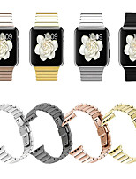 abordables -Bracelet de Montre  pour Apple Watch Series 4 / Apple Watch Series 4/3/2/1 Apple papillon Boucle Métallique / Acier Inoxydable Sangle de Poignet