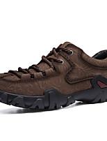 Недорогие -Муж. Кожаные ботинки Наппа Leather Зима Винтаж / На каждый день Кеды Сохраняет тепло Черный / Коричневый