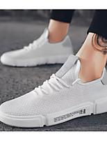 Недорогие -Муж. Комфортная обувь Сетка Лето Кеды Белый / Черный / Красный