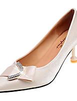 Недорогие -Жен. Комфортная обувь Полиуретан Осень На каждый день Обувь на каблуках На каблуке-рюмочке Заостренный носок Черный / Бежевый / Розовый / Свадьба / Повседневные
