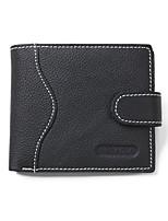 Недорогие -Муж. Мешки Бумажники Молнии / Рельефный Сплошной цвет Черный