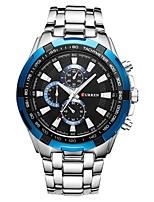 Недорогие -Муж. Нарядные часы Японский Японский кварц 30 m Защита от влаги Фосфоресцирующий Cool Нержавеющая сталь Группа Аналоговый Роскошь Мода Серебристый металл -