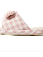 Недорогие -Девочки Обувь Полиэстер Весна & осень Удобная обувь Тапочки и Шлепанцы для Дети / Для подростков Зеленый / Розовый