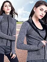 abordables -Femme Sweatshirt Des sports Couleur unie Shirt Pour Course / Running, Fitness, Gymnastique Manches Longues Tenues de Sport Poids Léger, Respirable, Design Anatomique Elastique Mince - Violet / Hiver