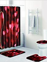 Недорогие -1 комплект Modern Коврики для ванны 100 г / м2 полиэфирный стреч-трикотаж Креатив Прямоугольная Ванная комната Творчество