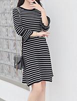 Недорогие -Женское платье из тонкого свитера выше колена