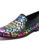 Недорогие -Муж. Официальная обувь Наппа Leather Осень На каждый день / Английский Мокасины и Свитер Нескользкий Черный / Для вечеринки / ужина