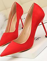 baratos -Mulheres Sapatos Confortáveis Camurça Primavera Sapatos De Casamento Salto Agulha Preto / Cinzento / Vermelho