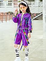 billiga -Jazz Outfits Flickor Prestanda Elastan Veckad Långärmad Naturlig Topp / Byxor