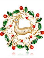 Недорогие -Жен. Классический Броши - Elk Мультяшная тематика, европейский, Мода Брошь Золотой Назначение Рождество / Повседневные