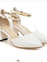 Недорогие -Жен. Комфортная обувь Полиуретан Весна Обувь на каблуках На толстом каблуке Белый / Зеленый / Розовый