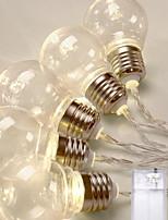 Недорогие -2,5м Гирлянды 10 светодиоды Тёплый белый Декоративная Аккумуляторы AA 1 комплект
