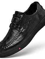 Недорогие -Муж. Кожаные ботинки Наппа Leather Осень Винтаж / На каждый день Кеды Массаж Черный / Кофейный