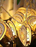 Недорогие -2,5м Гирлянды 20 светодиоды Тёплый белый Декоративная Аккумуляторы AA 15шт / 1 комплект