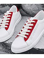 Недорогие -Муж. Комфортная обувь Полиуретан Лето Кеды Черный / Красный