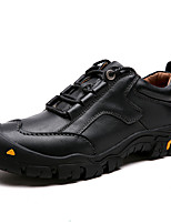 Недорогие -Муж. Кожаные ботинки Кожа Зима Винтаж / На каждый день Кеды Сохраняет тепло Черный / Коричневый