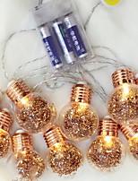 billiga -2m Ljusslingor 10 lysdioder Varmvit Dekorativ AA Batterier Drivs 1set