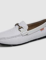 billiga -Herr Läderskor Läder Höst Ledigt / Brittisk Loafers & Slip-Ons Massage Vit / Svart