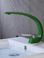 Недорогие -Ванная раковина кран - Творчество Живопись По центру Одной ручкой одно отверстие