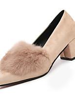 Недорогие -Жен. Комфортная обувь Замша Осень На каждый день Обувь на каблуках На толстом каблуке Белый / Черный / Верблюжий / Повседневные