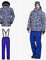 abordables -Vector Homme Veste & Pantalons de Ski Chaud, Protection contre les surcharges, Sports d'hiver Snowboard / Sports d'hiver Ecologique Polyester Veste Coquille souple / Pantalon de bavoir de neige Tenue