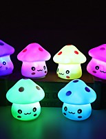 cheap -LED Night Light 3pc Colorful Mushroom Room Bedside Lamp for Baby Kids Christmas Gifts