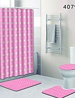 Недорогие -1 комплект Modern Коврики для ванны 100 г / м2 полиэфирный стреч-трикотаж В клетку Прямоугольная Ванная комната Очаровательный
