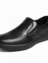 Недорогие -Муж. Комфортная обувь Кожа Весна Классика / На каждый день Мокасины и Свитер Водостойкий Черный