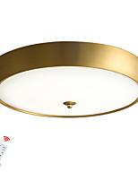 baratos -ZHISHU Montagem do Fluxo Luz Descendente Latão Metal Vidro LED 110-120V / 220-240V Branco quente + branco