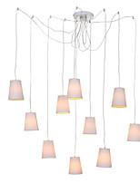 Недорогие -QINGMING® 10-Light Мини Люстры и лампы Потолочный светильник Окрашенные отделки Металл Ткань Мини 110-120Вольт / 220-240Вольт Лампочки не включены / VDE / E26 / E27