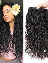 Недорогие -3 Связки Индийские волосы Волнистые Натуральные волосы / Необработанные натуральные волосы Подарки / Человека ткет Волосы / Пучок волос 8-28 дюймовый Естественный цвет Ткет человеческих волос