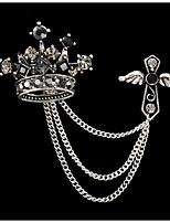 Недорогие -Жен. несовместимый Броши - Корона модный, Английский Брошь Черный Назначение Свидание / фестиваль