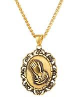 Недорогие -Муж. Скульптура Ожерелья с подвесками - Нержавеющая сталь Классика Золотой, Черный, Серебряный 55 cm Ожерелье Бижутерия 1шт Назначение Подарок, Официальные