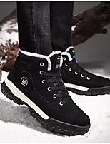 Недорогие -Муж. Комфортная обувь Полиуретан Зима Ботинки Ботинки Черный / Синий