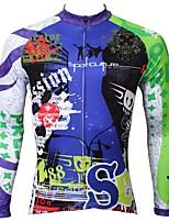 Недорогие -ILPALADINO Муж. Длинный рукав Велокофты - Синий Мода Велоспорт Джерси Верхняя часть, Флисовая подкладка Сохраняет тепло Ультрафиолетовая устойчивость, Зима, Эластан