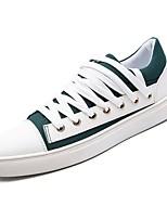 Недорогие -Муж. Комфортная обувь Полотно Осень Кеды Черный / Желтый / Зеленый