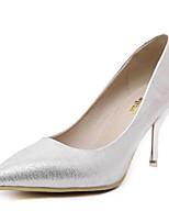 Недорогие -Жен. Комфортная обувь Полиуретан Весна Обувь на каблуках На шпильке Золотой / Серебряный